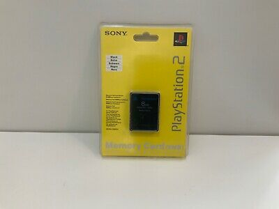 Genuine Official Sony Playstation 2 PS2 Memory Card - Brand New Sealed