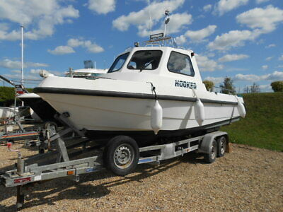 Souter MI21 (custom) fishing boat diesel inboard engine & trailer
