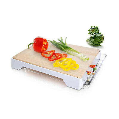 Tomorrow's Kitchen 12-Inch x 15-Inch Bamboo Cutting Board with Tray