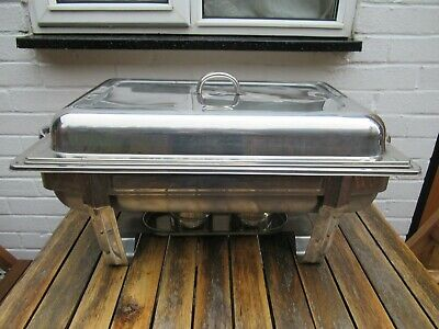 Stainless Steel Chafing Dish Set Party Cater Food Warmer Fuel