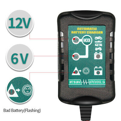 6V 12V 0.75Amp To 1.5A CAR VAN BIKE INTELLIGENT SMART BATTERY CHARGER 7-60AH UK