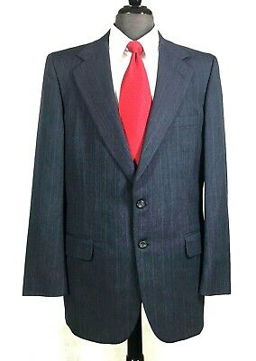 H Freeman & Son Custom mens wool suit for Nordstrom gray pin stripe 42R to 42L