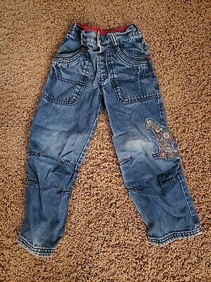 Next Toddler Kids Blue Denim Dinosaur Jeans Size 4-5 Years EUC