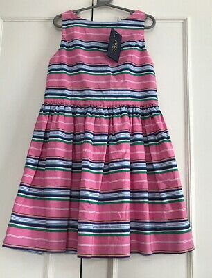 Polo Ralph Lauren Girls Striped Dress Size 12yrs New With Tags rrp £65
