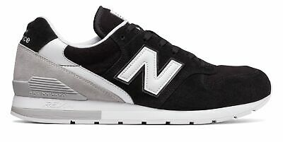 Factory Second New Balance Men's 996 Revlite Shoes Black with Grey