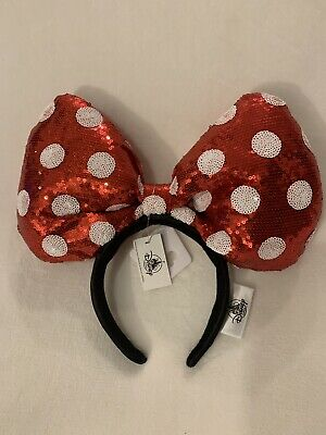 Disney Parks Big Plush Minnie Mouse Ears Headband~NWT