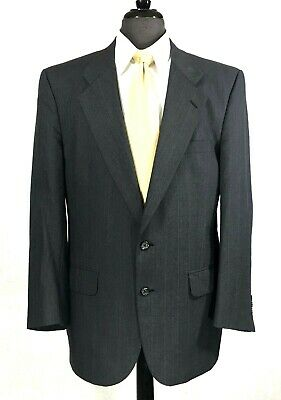Burberry Prorsum mens gray wool pin striped suit pleated pants 41R to 41S