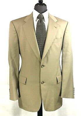 Hart Schaffner Marx mens Gold Trumpeter tan wool suit 37R to 40R