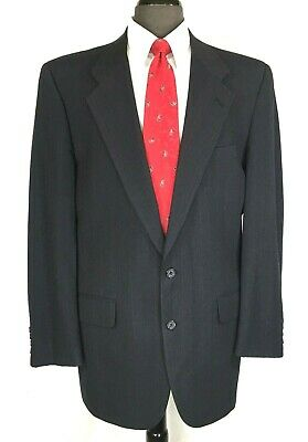 Burberry Prorsum mens gray wool pin stripe suit pleated cuffed pants 42R.....