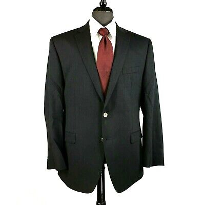 Calvin Klein mens black wool blazer jacket sport coat 42R