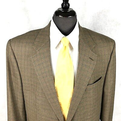 Lauren Ralph Lauren mens tan multicolor Houndstooth wool blazer 44L to 46L