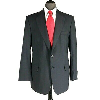 Tom James Custom Tailored mens navy blue wool blazer jacket 41R