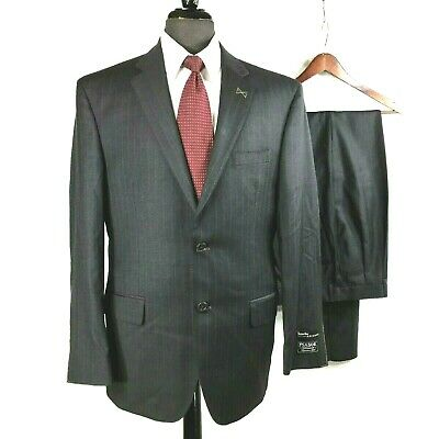 Jos. A. Bank Signature Gold NWT gray pin striped Superfine wool suit 40R.....