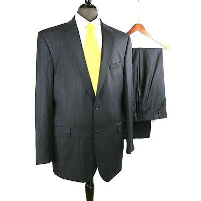 Jos. A. Bank Signature Collection mens navy blue striped wool suit 42L to 44L
