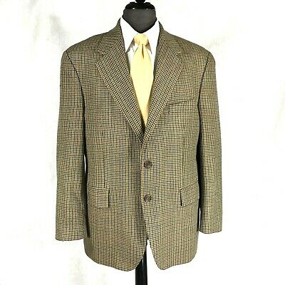 Chaps Ralph Lauren mens tan brown lightweight silk blend blazer jacket 42S