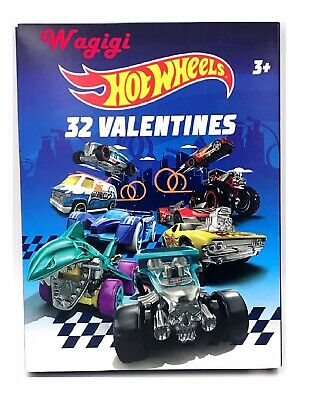 Hot Wheels Diecast Kids 32 Valentine Cards Classroom Sharing Exchange Party New