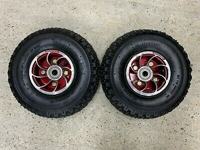 Shoprider Sovereign TE-888 Front Wheels 260 x 85 3.00-4 New Tyres Pair Mobility