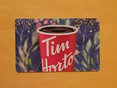 Tim Hortons Flower Pattern With Cup Empty Gift Card Reloadable RARE
