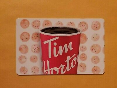 2019 Tim Hortons Timbit With Coffee Cup Pattern Empty Gift Card Reloadable RARE!