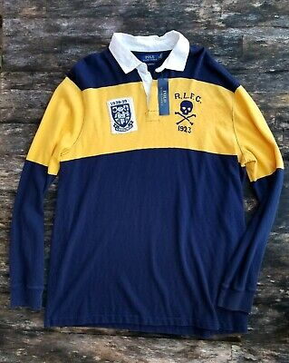POLO RALPH LAUREN men's color block rugby long sleeve polo shirt NEW $168 RECENT