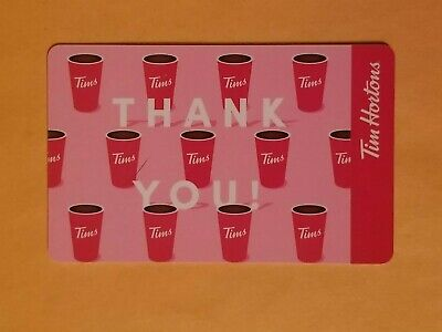 2019 Tim Hortons Coffee Cup Pattern Empty Gift Card Reloadable