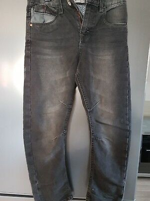 Age 8 black boys jeans with faded effect
