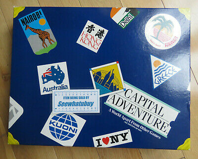 Capital Adventure Board Game from Mattel 1986 - 100% Complete Collectable & Rare