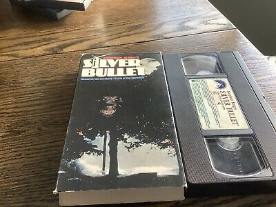 Silver Bullet VHS 1991 USED HORROR STEPHEN KING THRILLER WEREWOLF FREE US SHIP