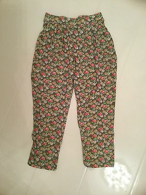 New Next Girls Green Ditsy Floral Print Loose Fit Trousers – 4 Yrs 104Cm
