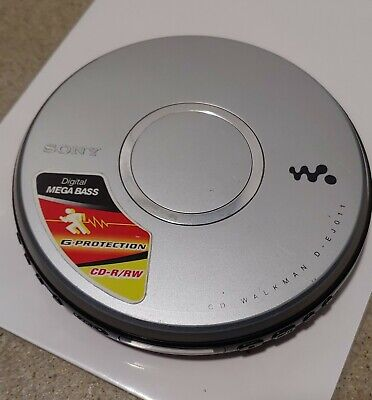 For PARTS/REPAIR: SONY D-EJ011 Silver Walkman Portable CD Player G-Protection