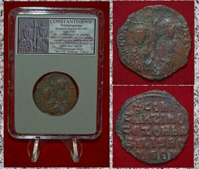 Ancient Byzantine Empire Coin CONSTANTINE VII with ZOE ---Rare Coin!---