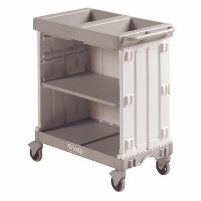 NEW! Compact Maid Service Trolley 900 Grey 381650