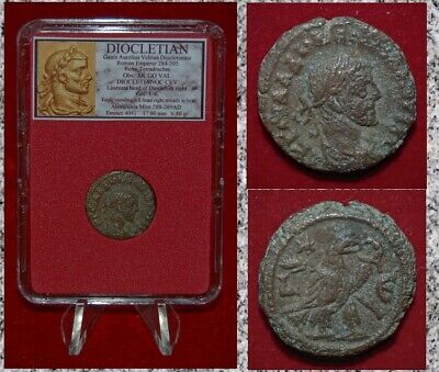 Ancient Roman Empire Coin DIOCLETIAN  Alexandria Tetradrachm Eagle