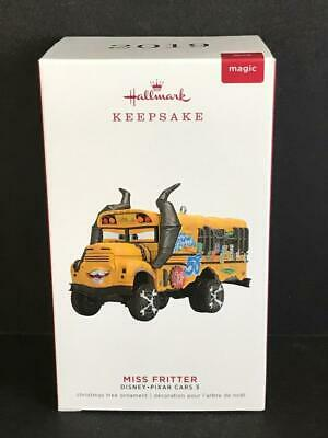 Hallmark Keepsake Disney Pixar Cars 3 Miss Fritter Magic Ornament with Sound