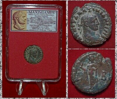 Ancient Coin MAXIMIANUS Bust Of Emperor Elpis on Reverse Alexandria
