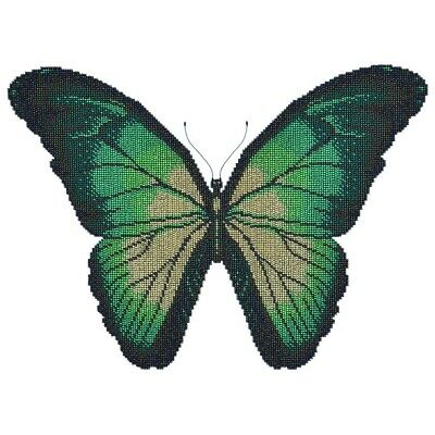 MINC11033 - Miniart Crafts - Turquoise Butterfly Bead Embroidery Kit