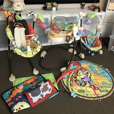 Complete Collection Fisher Price Baby Swing, Rocker, Jumperoo, Play Mat EEUC