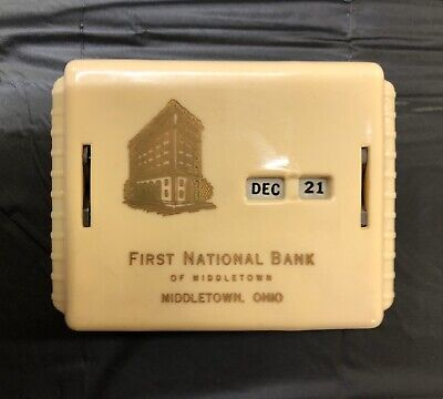 Vintage Gerett Allcoin Coin Calendar Bank First National Bank Of Middletown Ohio