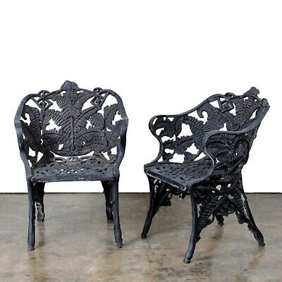 Cast Iron Fern Pattern Chairs, 19th Century
