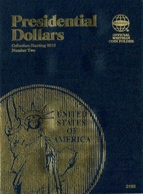 New Whitman Album PRESIDENTIAL DOLLARS 2012 to 2016 Coin Folder Book#2182 vol#2