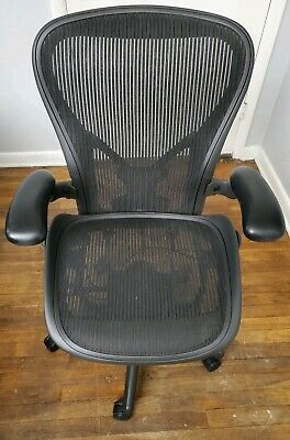 Herman Miller Aeron Fully Loaded Office Chair Sz C With Posture Fit