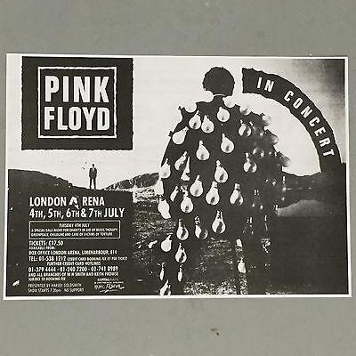 Pink Floyd - Concert Poster London Arena 4Th 5Th 6Th & 7Th July 1989  (A3 Size)