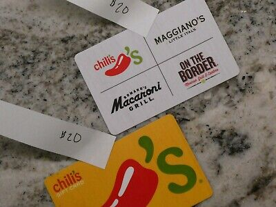Chilis, Macaroni Grill, Maggiano's, or On the Border Gift Card for $40 Value