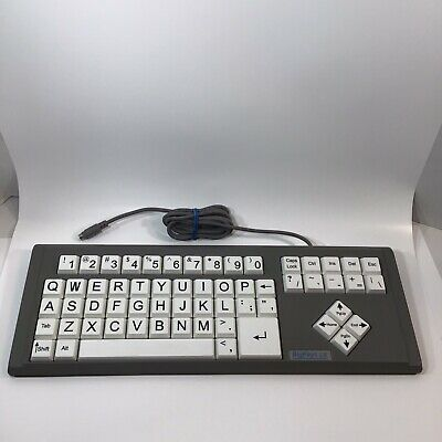 BigKeys LX White QWERTY Computer Keyboard Large Print Big Keys Ps/2 Tested