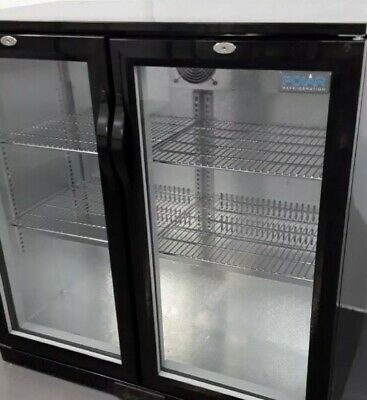 Commercial Bottle Fridge Double Display Bar Chiller Polar GL002