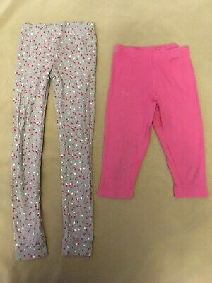 Hanna Andersson 130 Ribbed Pink Capris Leggings Carters 8 Hearts Valentines