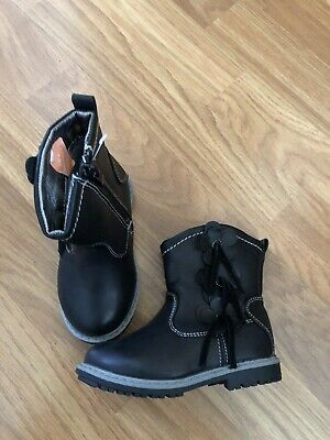 Bnwots. Chatterbox. Size Infant 5.  Black Leather Look Ankle Boots
