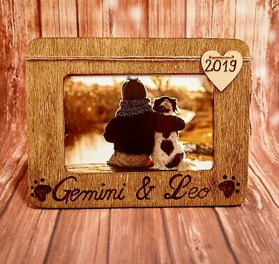 Personalised Engraved Pet Memorial Solid Oak Wood Photo Picture Frame Horse