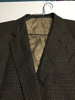 Chaps Mens Blazer Sport coat Jacket Chaps Lambs Wool Golden Plaid Sharp Sz 46 L
