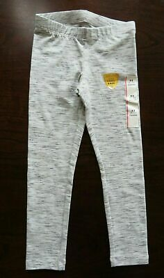 NEW Girl's Leggings Size XS (4-5) and S (6/6X) Cat & Jack Gray Meliered Cotton B